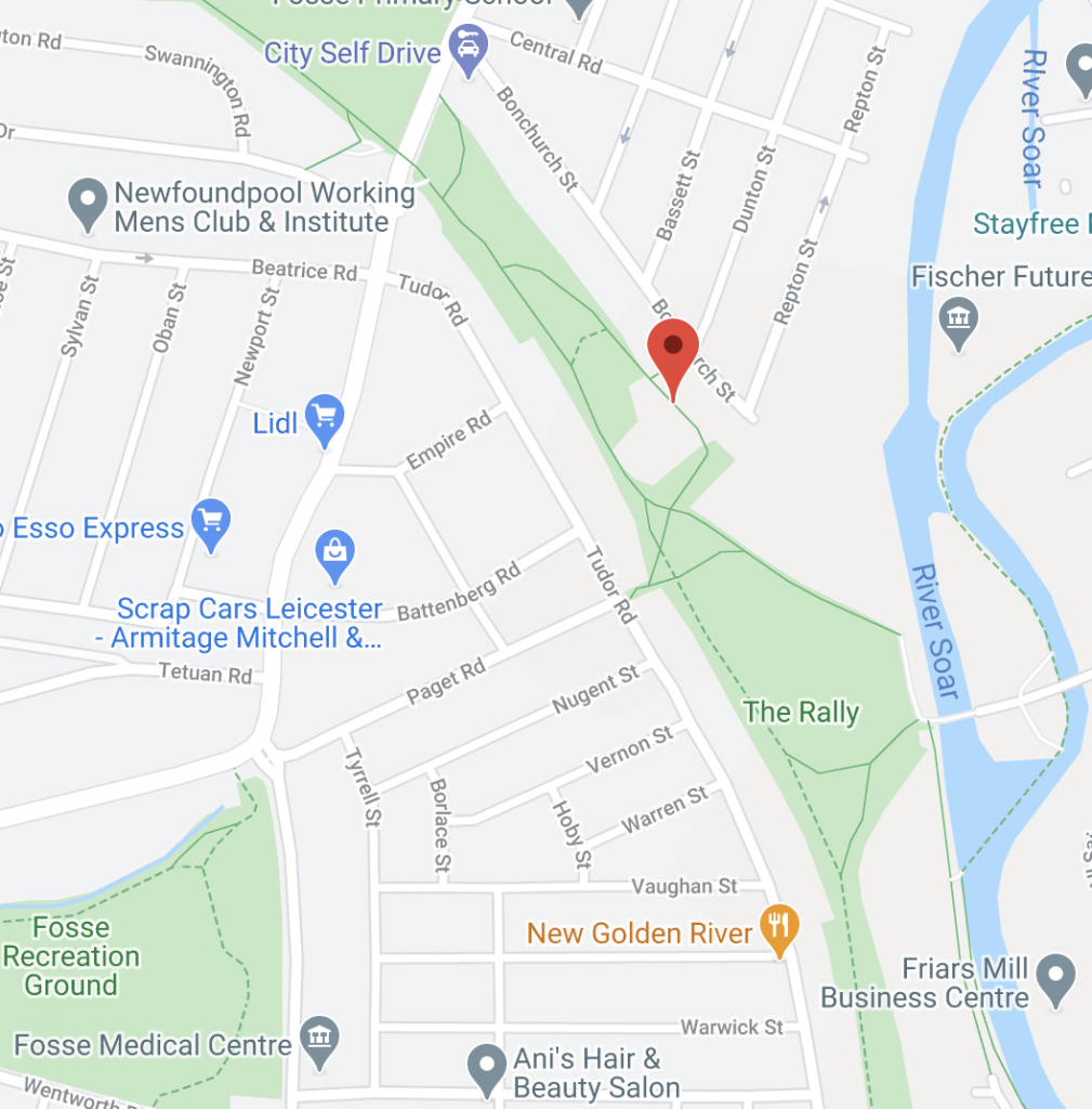 Address of the food bank on Google Maps.